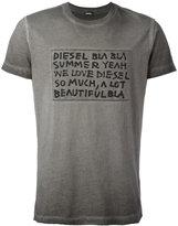 Diesel text detail T-shirt - men - Cotton - L