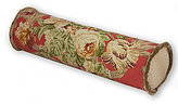 Rose Tree Durham Fringed Floral & Herringbone Neckroll Pillow