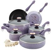 Paula Deen 15-pc. Signature Porcelain Cookware Set, Lavender Speckle