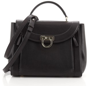 Salvatore Ferragamo Sofia Rainbow Saddle Bag Leather Small