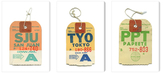 Luggage Tags by Pan Am (Canvas) (Set of 3)