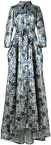 Carolina Herrera floral trench gown - women - Silk/Polyester - 2