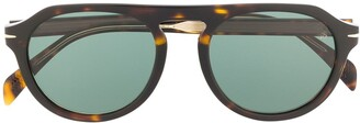David Beckham Tortoiseshell Round-Frame Sunglasses