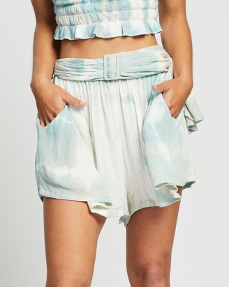 LENNI the label - Women's Blue High-Waisted - Quay Relaxed Shorts - Size One Size, XS at The Iconic