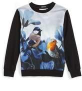 Molo Girl's Regine Bird Print Sweatshirt