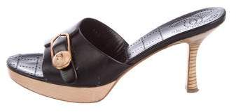 Chanel Leather CC Mules
