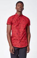 PacSun Palmy Short Sleeve Button Up Shirt