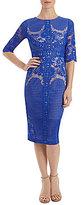 Jax Illusion Lace Midi Sheath Dress