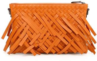 Bottega Veneta Woven Fringed Crossbody Bag