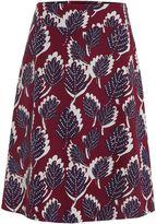 White Stuff Dotty Leaf Reversible Skirt