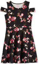 Epic Threads Floral-Print Cold-Shoulder Dress, Big Girls (7-16), Created for Macy's