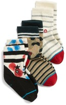 Stance Toddler Boy's Workshop 3-Pack Socks