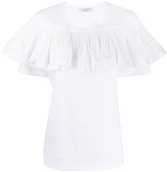 Valentino ruffle-panel T-shirt