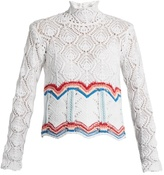 Peter Pilotto High-neck cotton-blend crochet sweater