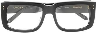 Linda Farrow rectangle frame glasses