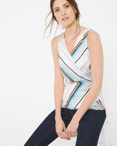 White House Black Market Angled Stripe Tank