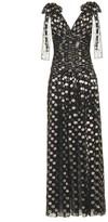 Dolce & Gabbana Fil coupe silk-blend gown