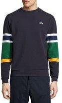 Lacoste Colorblock Ottoman-Knit Sweatshirt, Blue
