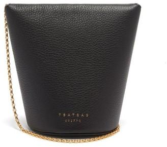 Tsatsas Olive Grained-leather Bucket Bag - Black