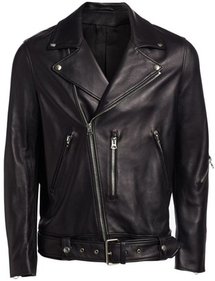 Acne Studios Nate Clean Leather Moto Jacket