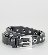 Thumbnail for your product : New Look Faux Croc Stud Skinny Belt