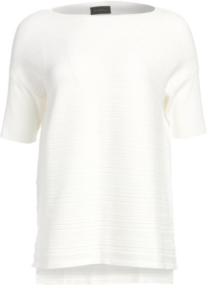 Saks Fifth Avenue COLLECTION Textured Short Sleeve Pullover