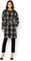 Lafayette 148 New York Wynonna Coat with Faux Leather Piping