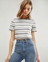 Glamorous Stripe Short Sleeve Top