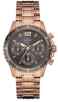 GUESS Women's U0639L2 Modern Classic Rose Gold-Tone Watch with Grey Multi-Function Dial