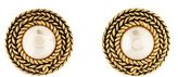 Chanel Pearl Medallion Clip-On Earrings