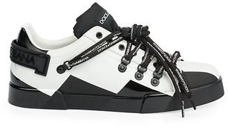 Dolce & Gabbana Colorblock Logo Nylon Sneakers