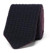 Ermenegildo Zegna - 6cm Reversible Knitted Cashmere Tie