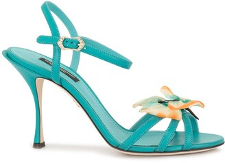 Dolce & Gabbana Butterfly Applique Sandals