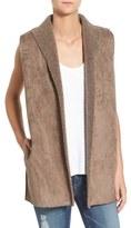 Velvet by Graham & Spencer Women's Faux Shearling Reversible Vest