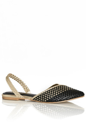 City Chic Selma Flat - gold