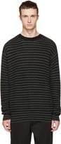 McQ by Alexander McQueen Black & Grey Striped Wool Sweater