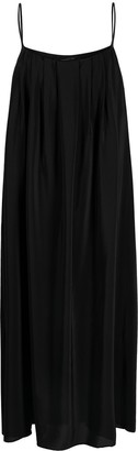 FEDERICA TOSI Draped Silk Maxi Dress