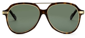 Cartier 57MM Avana Round Sunglasses