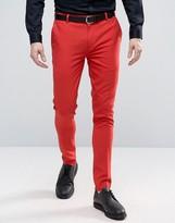 Asos Super Skinny Pant In Red