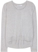 Alexander Wang Soft French Terry Jersey Sweater