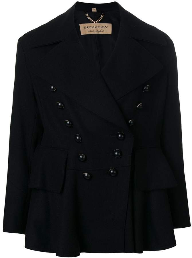 Burberry double breasted jacket