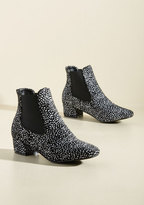 Get Up and Go-Go Bootie in Black Dots in 6