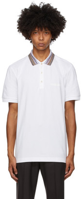 Missoni White Striped Collar Polo