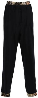 Dries Van Noten Navy Double-waisted Plenty Pants