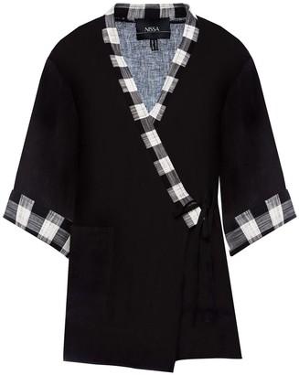 Nissa Cotton Plaid Jacket
