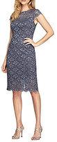 Alex Evenings Petite Cap-Sleeve Sheath Dress