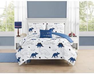 Beco Home Dino Park 4 Piece Comforter Set with decor pillow Full