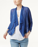 INC International Concepts Linen-Blend Cropped Cardigan, Only at Macy's