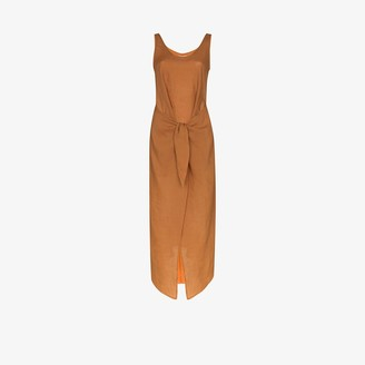 Anémone Tie-Front Midi Dress