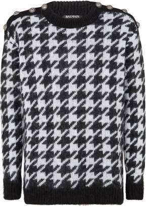 Balmain Houndstooth Knitted Sweater